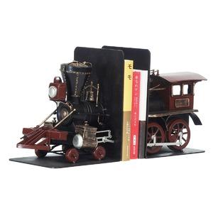 ブリキのおもちゃ置き物【ブックスタンド02】材質:鉄〔インテリアグッズディスプレイ雑貨〕