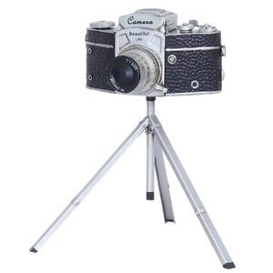 ブリキのおもちゃ 置き物 【カメラ02】 材質:鉄 〔インテリアグッズ ディスプレイ雑貨〕