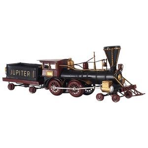ブリキのおもちゃ 置き物 【機関車01】 材質:鉄 〔インテリアグッズ ディスプレイ雑貨〕