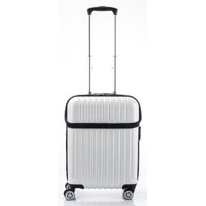 トップオープン スーツケース/キャリーバッグ 【ホワイトカーボン】機内持ち込みサイズ 33L 『アクタス トップス』