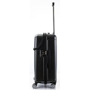トップオープン スーツケース/キャリーバッグ 【ブラックカーボン】 Mサイズ 55L 『アクタス トップス』