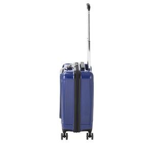 フロントオープン スーツケース/キャリーバッグ 【ブルーヘアライン】 35L 機内持ち込みサイズ 『アクタス ポライト』