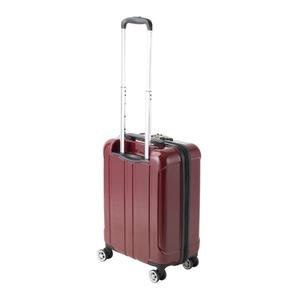 フロントオープン スーツケース/キャリーバッグ 【レッドヘアライン】 35L 機内持ち込みサイズ 『アクタス ポライト』