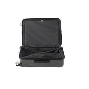 フロントオープン スーツケース/キャリーバッグ 【ブラックヘアライン】 60L Mサイズ 『アクタス ポライト』