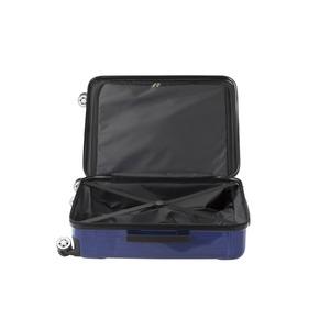 フロントオープン スーツケース/キャリーバッグ 【ブルーヘアライン】 60L Mサイズ 『アクタス ポライト』