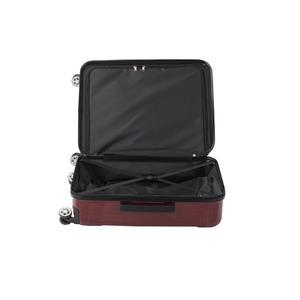 フロントオープン スーツケース/キャリーバッグ 【レッドヘアライン】 60L Mサイズ 『アクタス ポライト』