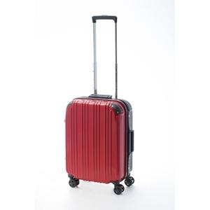 ツートンカラー スーツケース/キャリーバッグ 【Sサイズ レッド/ブラック】 33L 『アクタス』