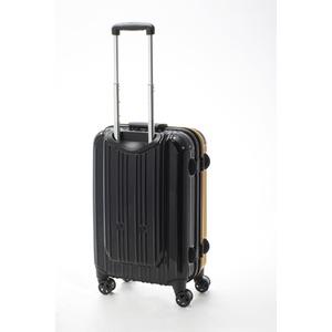 ツートンカラー スーツケース/キャリーバッグ 【Mサイズ イエロー/ブラック】 52L 『アクタス』