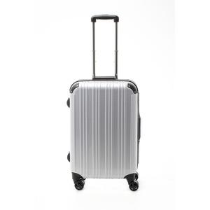 ツートンカラー スーツケース/キャリーバッグ 【Mサイズ カーボンホワイト/ブラック】 52L 『アクタス』