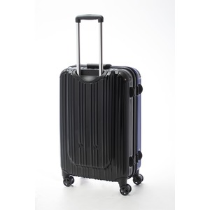 ツートンカラー スーツケース/キャリーバッグ 【Lサイズ ブルー/ブラック】 72L 『アクタス』