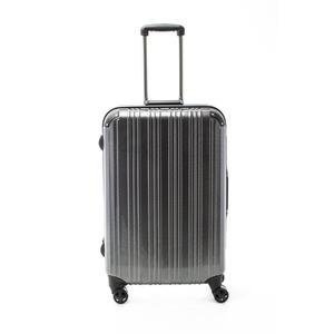ツートンカラー スーツケース/キャリーバッグ 【Lサイズ カーボンブラック/ブラック】 72L 『アクタス』