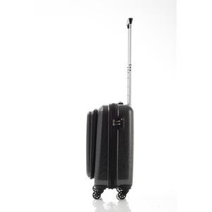 マンハッタンエクスプレス ポケット付キャリー 機内持ち込みサイズ 53-20101 ブラックカーボン
