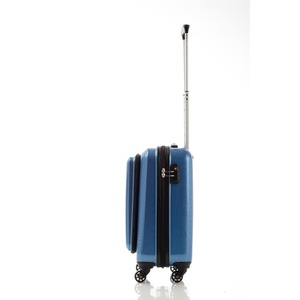 スーツケース/キャリーバッグ 【フロントオープン ブルーカーボン】 29L 機内持ち込みサイズ 『マンハッタンエクスプレス』