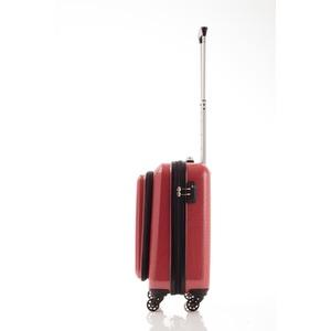 スーツケース/キャリーバッグ 【フロントオープン レッドカーボン】 29L 機内持ち込みサイズ 『マンハッタンエクスプレス』