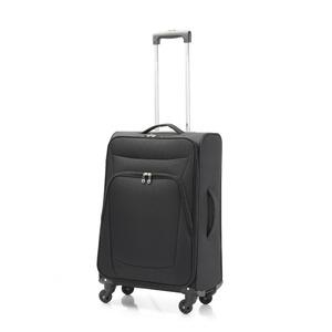 超軽量 ソフトキャリー/スーツケース 【Mサイズ ブラック】 41L ファスナーポケット付 『アンドレリュックス』