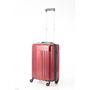 スーツケース/キャリーバッグ 【機内持ち込みサイズ レッド】 32L 『マンハッタンエクスプレス ワーゲン』