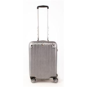 スーツケース/キャリーバッグ 【ジッパー ブラックヘアライン】 38.5L 機内持ち込みサイズ 『トラベリスト ストロークII』