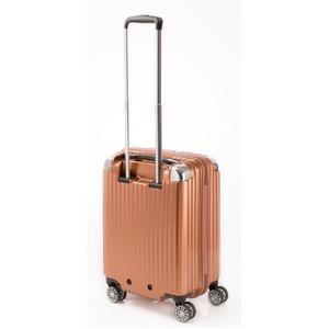 スーツケース/キャリーバッグ 【ジッパー オレンジヘアライン】 38.5L 機内持ち込みサイズ 『トラベリスト ストロークII』