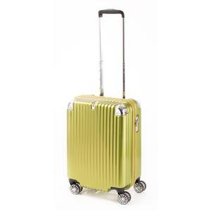 スーツケース/キャリーバッグ 【ジッパー ライムヘアライン】 38.5L 機内持ち込みサイズ 『トラベリスト ストロークII』