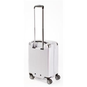 スーツケース/キャリーバッグ 【ジッパー ホワイトヘアライン】 38.5L 機内持ち込みサイズ 『トラベリスト ストロークII』