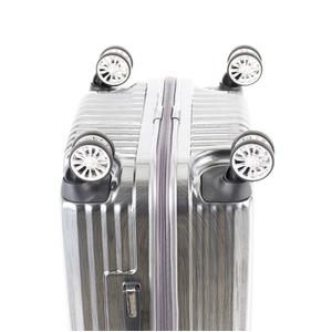 スーツケース/キャリーバッグ 【ジッパー式 ブラックヘアライン】 Mサイズ 60L 『トラベリスト ストロークII』