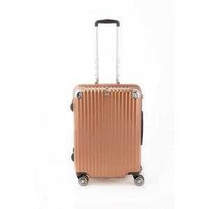 スーツケース/キャリーバッグ 【ジッパー式 オレンジヘアライン】 Mサイズ 60L 『トラベリスト ストロークII』