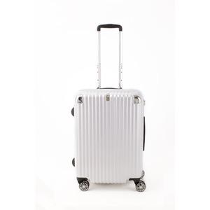 スーツケース/キャリーバッグ 【ジッパー式 ホワイトヘアライン】 Mサイズ 60L 『トラベリスト ストロークII』