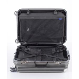 スーツケース/キャリーバッグ 【ブラックヘアライン】 Mサイズ 75L 『トラベリスト ストロークII』
