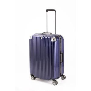 スーツケース/キャリーバッグ 【ブルーヘアライン】 Mサイズ 75L 『トラベリスト ストロークII』