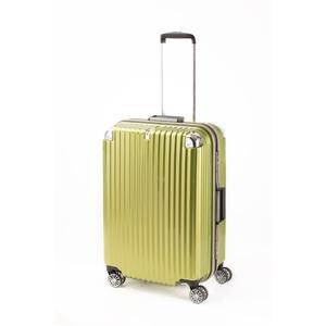 スーツケース/キャリーバッグ 【ライムヘアライン】 Mサイズ 75L 『トラベリスト ストロークII』