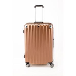 スーツケース/キャリーバッグ 【オレンジヘアライン】 Lサイズ 100L 『トラベリスト ストロークII』