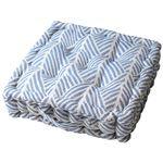 インド綿使用 フロアクッション/座布団 【2枚組 ネイビー】 42×42×10cm 『クラック』
