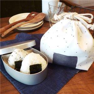 【3個セット】 お弁当袋/簡易保冷バッグ 【ゴマオニギリ】 幅25.5cm 『オカズキンチャク』