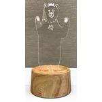 【3個セット】 アクセサリースタンド/メガネ置き 【bear】 音感センサー内蔵 『acrysta-las-』
