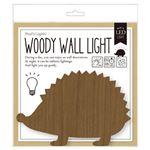 【2個セット】WOODY WALL LIGHT (3)HEDGEHOG TL-WWL-03