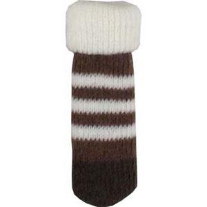 【8個セット】Chair socks Border ブラウン CSK-BD-BR