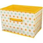【6個セット】 ドットインナーボックス/収納箱 【オレンジ】 幅38cm ドット柄
