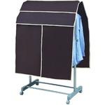 【5個セット】 パイプハンガーカバー 単品 【ブラウン】 幅90cm×高さ110cm カーテン付き 『プラスワン』