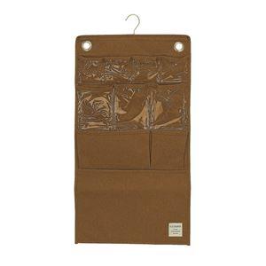 【4個セット】 ウォールポケット/壁掛け収納 【ブラウン】 幅38cm×高さ70cm 『ストレリアナチュレ』