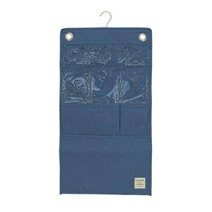 【4個セット】 ウォールポケット/壁掛け収納 【ブルー】 幅38cm×高さ70cm 『ストレリアナチュレ』