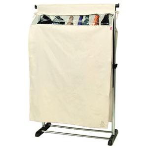 【3個セット】 ハンガーラックカバー/衣類カバー 単品 【1段シングルサイズ用】 幅92cm×奥行47cm×高さ180cm