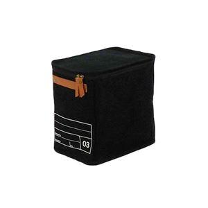 【2個セット】 キャンバスストレージ/収納ボックス 【03 ブラック】 幅18cm×奥行25cm×高さ25cm 『モック』