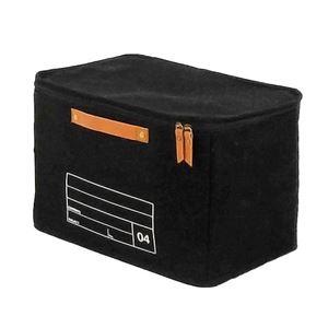 【2個セット】 キャンバスストレージ/収納ボックス 【04 ブラック】 幅38cm×奥行25cm×高さ25cm 『モック』