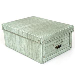 【6個セット】 マルチ収納ボックス/収納箱 【M ホワイト】 幅22cm×奥行30cm×高さ12.5cm 『アンティークスタイルボックス』