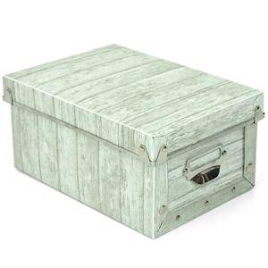【6個セット】 マルチ収納ボックス/収納箱 【S ホワイト】 幅17cm×奥行24cm×高さ12cm 『アンティークスタイルボックス』