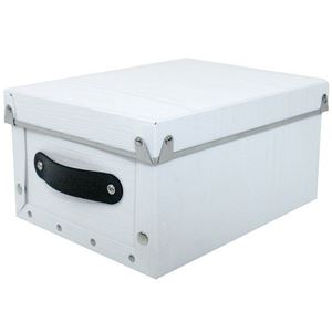 【4個セット】アンティークスタイルモジュールボックス クオーター ホワイト ASB2-Q-WH