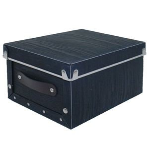 【4個セット】アンティークスタイルモジュールボックス クオーター ブラック ASB2-Q-BK