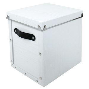 【4個セット】 マルチ収納ボックス 【モジュールタイプ/縦型 ホワイト】 『アンティークスタイルボックス』