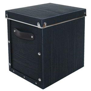 【4個セット】 マルチ収納ボックス 【モジュールタイプ/縦型 ブラック】 『アンティークスタイルボックス』