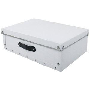 【4個セット】アンティークスタイルモジュールボックス 浅型 ホワイト ASB2-A-WH